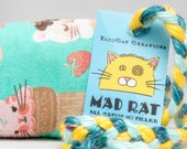 Blue Ice Cream Cats Pattern MadRat Catnip Stuffed Cat Toy