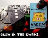 GLOW in the DARK! Kitty Halloween Costume Party Catnip Stuffed MadRat Cat Toy