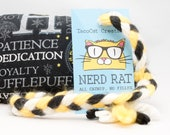 Harry Potter Hufflepuff Catnip Stuffed NerdRat Cat Toy