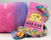 Rainbow Pattern Catnip Stuffed MadRat Cat Toy