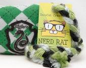 Harry Potter Slytherin Catnip Stuffed NerdRat Cat Toy
