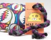 Grateful Dead Rainbow Steal Your Face Catnip Stuffed MadRat Cat Toy