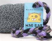 Gray Gravel Catnip Stuffed MadRat Cat Toy