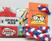Marvel Spider-Man Pattern Catnip Stuffed NerdRat Cat Toy