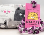Gray Cats Catnip Stuffed MadRat Cat Toy