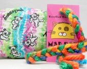 Grateful Dead Tie-Dyed Rainbow Bears Pattern MadRat Catnip Stuffed Cat Toy