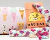 Cat Ice Cream Cones on Pink Catnip Stuffed MadRat Cat Toy