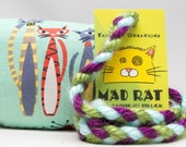 Retro Pattern MadRat Catnip Stuffed Cat Toy