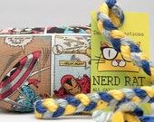 Avengers Comic Book Pattern Catnip Stuffed NerdRat Cat Toy