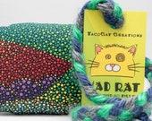 Dark Landscape Dots Pattern MadRat Catnip Stuffed Cat Toy