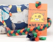 Cats in Hats and Scarves Catnip Stuffed MadRat Cat Toy