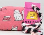 Cute Cats Pattern Catnip Stuffed MadRat Cat Toy