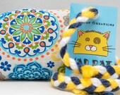 Rainbow Geometric Pattern Catnip Stuffed MadRat Cat Toy