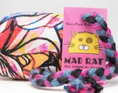 FINN FRIDAY Rainbow Abstract Pattern MadRat Catnip Stuffed Cat Toy