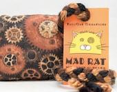 Industrial Pattern Catnip Stuffed MadRat Cat Toy