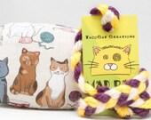 Cute Cartoon Cats Pattern Catnip Stuffed MadRat Cat Toy