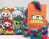 Chibi Avengers Cartoon Pattern Catnip Stuffed NerdRat Cat Toy