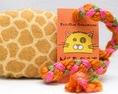 Giraffe Pattern Flannel MadRat Catnip Stuffed Cat Toy