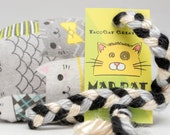 Cute Gray Cats Catnip Stuffed MadRat Cat Toy