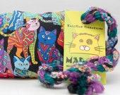 Rainbow Paisley Cats Pattern Catnip Stuffed MadRat Cat Toy