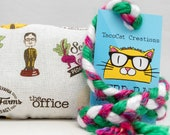 The Office Schrute Farms Pattern Catnip Stuffed NerdRat Cat Toy
