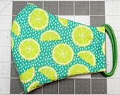 READY TO SHIP Limes Everywhere Cotton Face Mask w/ Filter Pocket
