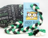 Harry Potter Slytherin Catnip Stuffed NerdRat Cat Toy