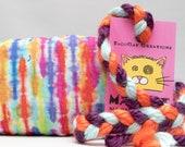 Tie Dye Stripes Pattern MadRat Catnip Stuffed Cat Toy