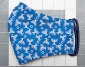 READY TO SHIP Hanukkah Pattern Contoured Cotton Face Mask w/ Filter Pocket