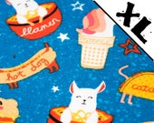 Friendly Animal Food Pattern XL Refillable Padded Catnip Mat