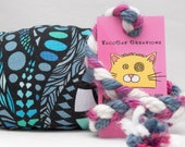 Blue Zendoodles Pattern MadRat Catnip Stuffed Cat Toy