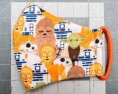 READY TO SHIP Star Wars Puppet Crew Pattern Contoured Cotton Face Mask w/ Filter Pocket