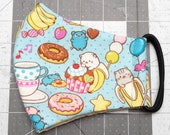 READY TO SHIP Bananya Cat Toss Pattern Contoured Cotton Face Mask w/ Filter Pocket