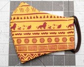 READY TO SHIP Lion King Pattern Contoured Cotton Face Mask w/ Filter Pocket