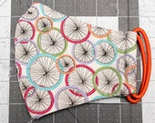 READY TO SHIP Rainbow Bike Wheels Pattern Contoured Cotton Face Mask w/ Filter Pocket