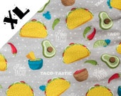 Tacos and Avocados XL Refillable Catnip Mat