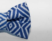 Dapper Cat Blue Diamonds Cat Bow Tie