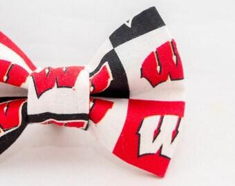 UW Badgers Cat Bow Tie