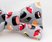 Cute Sushi Pattern Cat Bow Tie