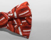 Dapper Cat Football Pattern Cat Bow Tie