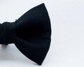 Dapper Cat Solid Black Cat Bow Tie