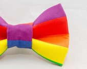 Rainbow Stripes Cat Bow Tie