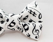 Musical Notes Cat Bow Tie