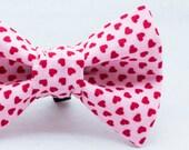 Dapper Cat Little Hearts Bow Tie