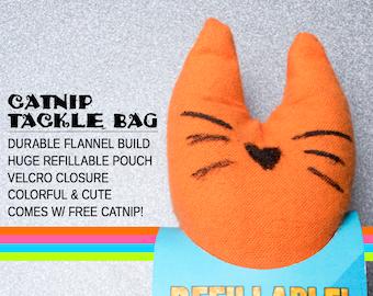 Fizzle Sticks Refillable Catnip Cat Toy -ORANGE