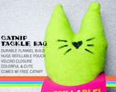 Fizzle Sticks Refillable Catnip Cat Toy - GREEN