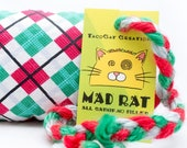 Christmas Plaid Catnip Stuffed MadRat Cat Toy