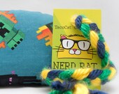 Minecraft Catnip Stuffed NerdRat Cat Toy