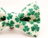 Dapper Cat St Patty's Shamrocks Bow Tie
