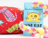 Christmas Kitties in Scarves Catnip Stuffed MadRat Cat Toy